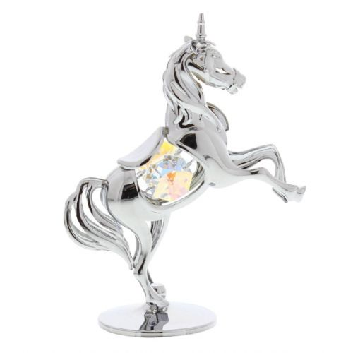 Crystal Silver Unicorn Cake Topper Decoration and Keepsake